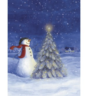 BOXEDNOTE/Snowman & tree