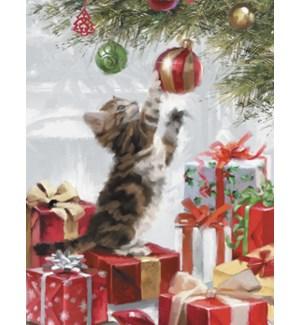 BOXEDNOTE/Cat under tree