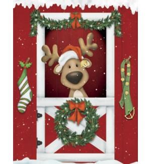 BOXEDNOTE/Reindeer in hat