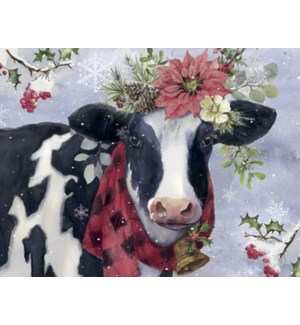 BOXEDNOTE/Cow with flower