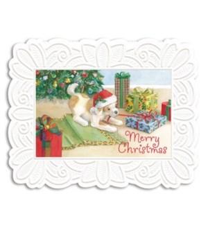 XM/Dog Under Christmas Tree