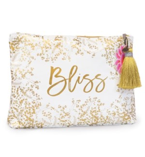 POUCH/Foiled Flowers Lg