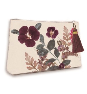 POUCH/Plum Leaves Pouch Lg