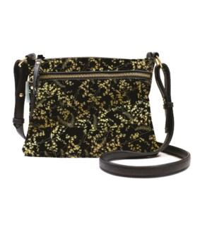 BAG/Black Gilded Flowers