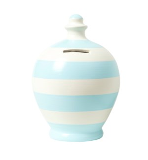 POT/Stripe White/Baby Blue