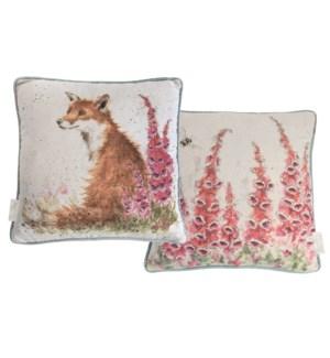 CUSHION/Foxgloves Fox