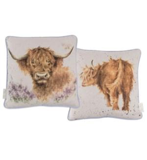 CUSHION/Highland Heathers Cow