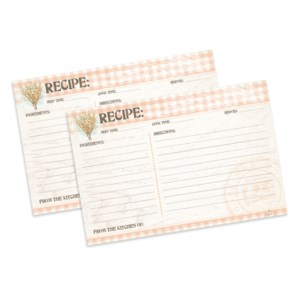 Recipe Card 4x6