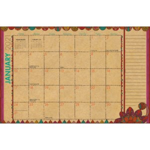 Kraft Deskpad Calendar