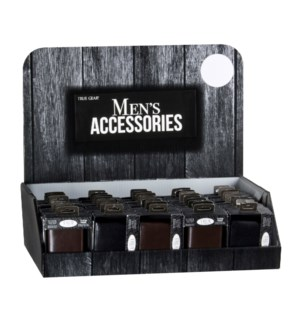 Men's Leather Wallets on Counter Display - 48pcs