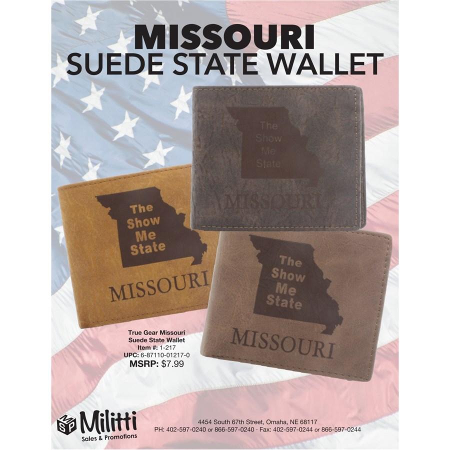 Suede State Wallets - Missouri