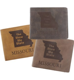 Suede State Wallets - Missouri