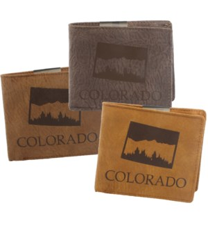 Suede State Wallet - Colorado