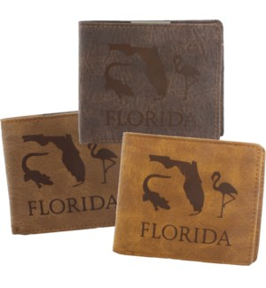 Suede State Wallets - Florida
