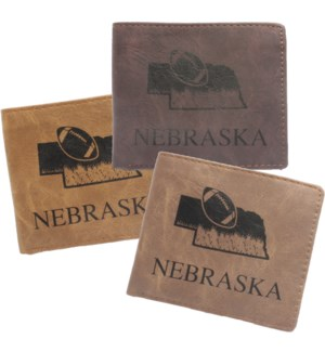Suede State Wallets - Nebraska