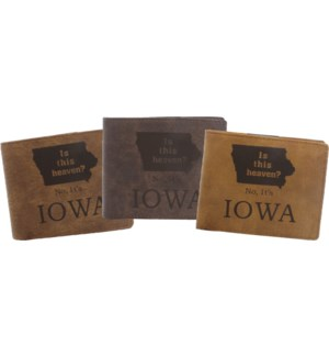 Suede State Wallets - Iowa