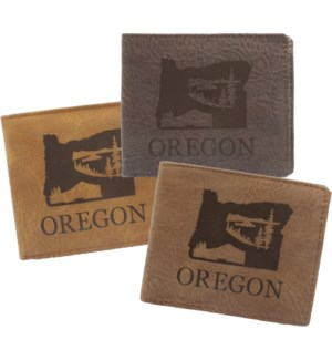 Suede State Wallets - Oregon