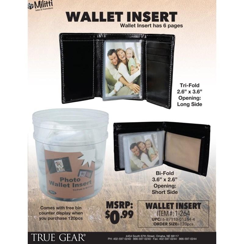 Wallet Insert for Men's Leather Wallets
