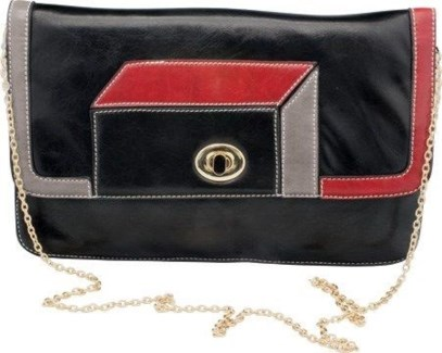 Geometric Clutch Black