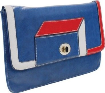 Geometric Clutch Blue