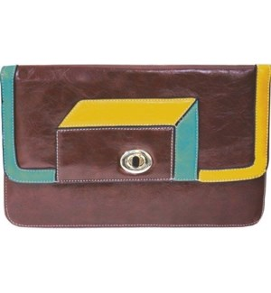 Geometric Clutch Brown