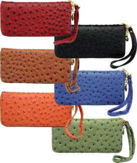 Ostrich Zipper Wallet