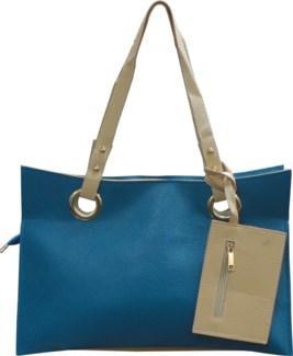 Accordion Laptop Bag with Wristlet Blue