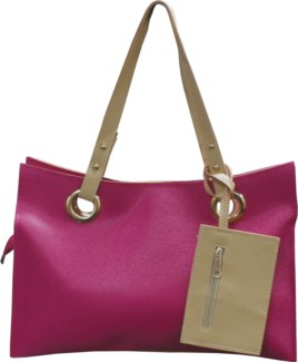 Accordion Laptop Bag with Wristlet Pink