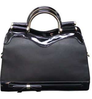 Tote with Metal Handles Black