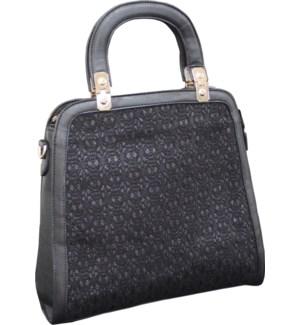 Sparkle Cutout Handbag Black
