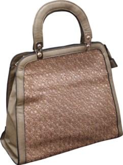 Sparkle Cutout Handbag Brown