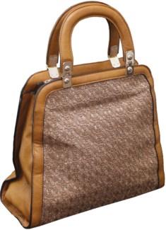 Sparkle Cutout Handbag Tan