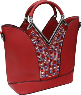 USA Bling Purse Red