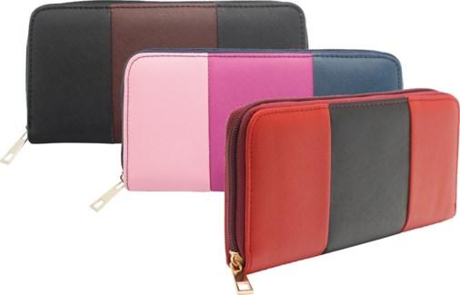 Three Toned Zipper Wallet