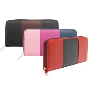 Three Toned Zipper Wallet