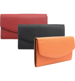 Solid Color Fold Over Wallet