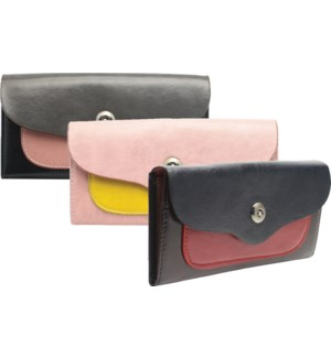 Fold Over Wallet with Magnetic Clasp