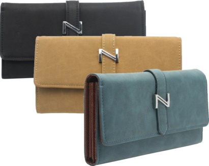 Suede Wallet with Strap