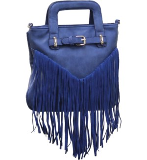 Fringe Purse with Font Buckle Blue