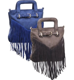 Fringe Purse with Font Buckle Mix