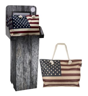 American Flag Bag Floor Display - 24pcs