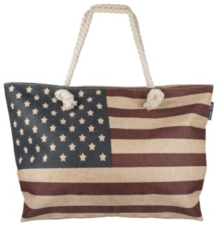 American Flag Bag with Rope Handles