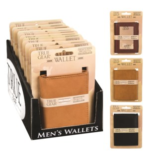 Men's Genuine Leather Wallet in Counter Display - 12 pcs