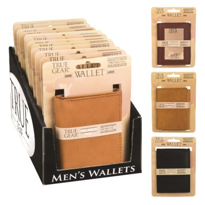 Men S Genuine Leather Wallet In Counter Display 12 Pcs Wallets