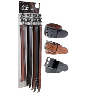 72pc Men's Belts on Panel Display