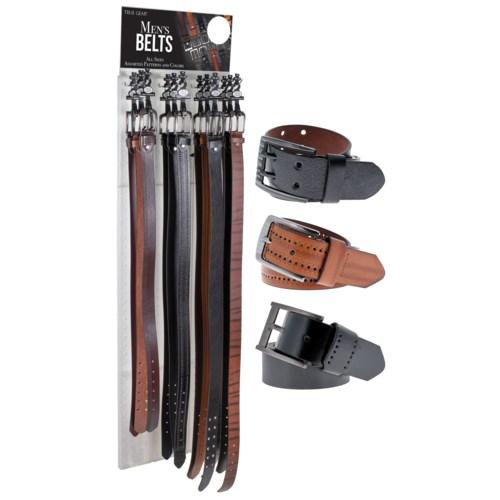 72pc Men's Belts on Panel Display
