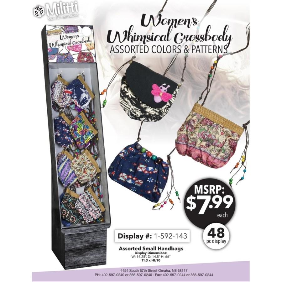 Women's Whimsical Crossbody Shipper - 48pc