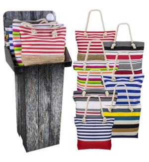 Summer Fun Pack-12 Assortment Totes Floor Display - 24pcs