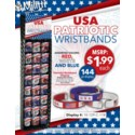 USA Patriotic Wristbands Shipper