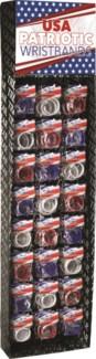 USA Patriotic Wristbands Shipper